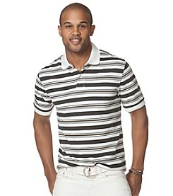 Chaps® Men's Short Sleeve Pique Striped Polo