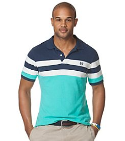 Chaps® Men's Short Sleeve Striped Pique Polo