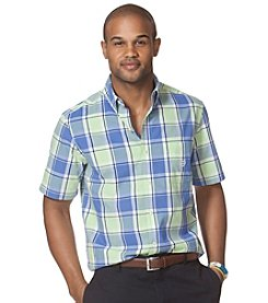 Chaps® Men's Short Sleeve Rayford Plaid Button Down