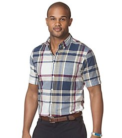 Chaps® Men's Short Sleeve Plaid Oxford