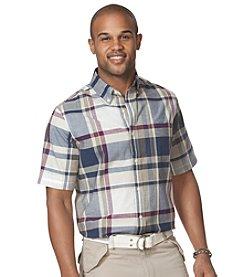 Chaps® Men's Short Sleeve Plaid Oxford