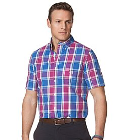 Chaps® Men's Short Sleeve Rayford Plaid Woven