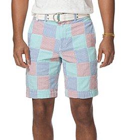 Chaps® Men's Seer Sucker Patterned Flat Front Short