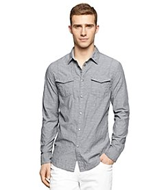 Calvin Klein Jeans® Men's Long Sleeve Geo Jacquard Button Down