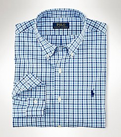 Polo Ralph Lauren® Men's Big & Tall Long Sleeve Small Plaid Shirt