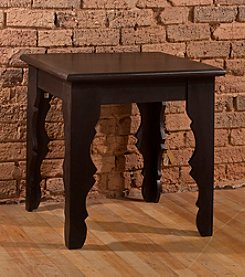 Keegan End Table - Distressed Black Finish