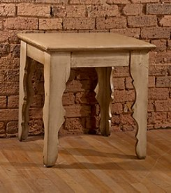 Keegan End Table - Distressed Antique White Finish