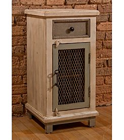 LaRose One Drawer Cabinet with Chicken Wire