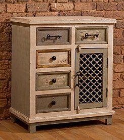 LaRose Five Drawer Cabinet with Chicken Wire