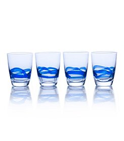 Mikasa® Admiral Cobalt Set of 4 Double Old Fashioned Glasses