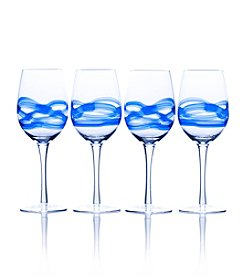Mikasa® Admiral Cobalt Set of 4 Wine Glasses