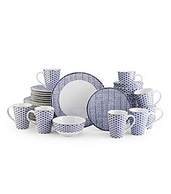 Mikasa® Blue Avery Medley 32-pc. Dinnerware Set