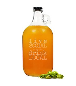 Cathy's Concepts Live Social, Drink Local Craft Growler
