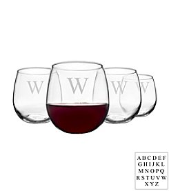 Cathy's Concepts Personalized Set of 4 Stemless Red Wine Glasses