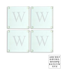 Cathy's Concepts Personalized Set of 4 Glass Coasters