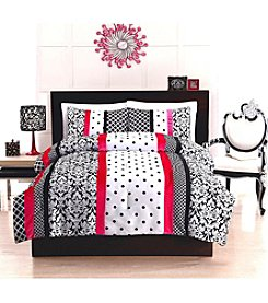 Pem America, Inc.® Bed Ink Dot Stripe 3-pc. Comforter Set
