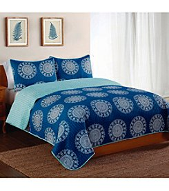 Pem America, Inc.® Style 212 Indigo Medallion 3-pc. Quilt Set
