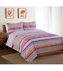 Pem America Style 212™ Spice Scroll 3-pc. Quilt Set