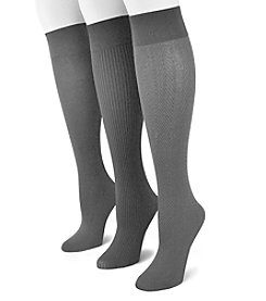 MUK LUKS®  3 Pair Pack Microfiber Trouser Socks