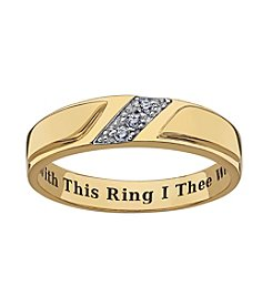 Sweet Sentiments 18k Gold over Silver & Sterling Silver Cubic Zirconia Ring