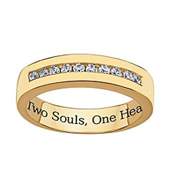 Sweet Sentiments 18k Gold over Sterling Silver Cubic Zirconia Wedding Ring