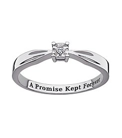 Sweet Sentiments Sterling Silver Diamond Accent Solitaire Ring