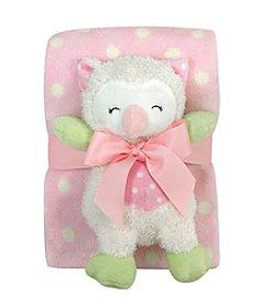 Stephan Baby® Plush Owl Blanket Set