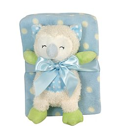 Stephan Baby® Plush Owl Blanket Set