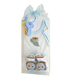 Stephan Baby® Owl Snapshirt Gift Set