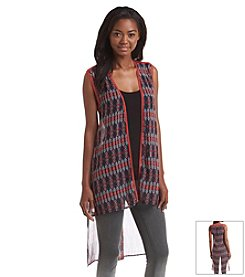 Hippie Laundry Printed Chiffon Duster