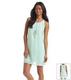 A. Byer Necklace Shift Dress