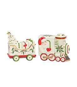 Lenox® Holiday Santa and Train Salt & Pepper Set