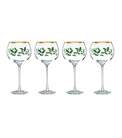 Lenox® Holiday Set of 4 Balloon Wine Glasses