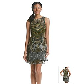 Julian Taylor Printed Trapeze Dress