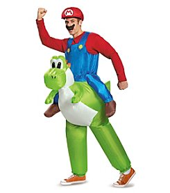Nintendo® Super Mario Bros® Inflatable Mario Riding Yoshi Adult Costume