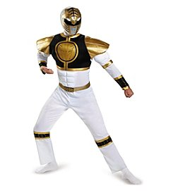 Mighty Morphin Power Rangers® White Ranger Adult Bodysuit Costume