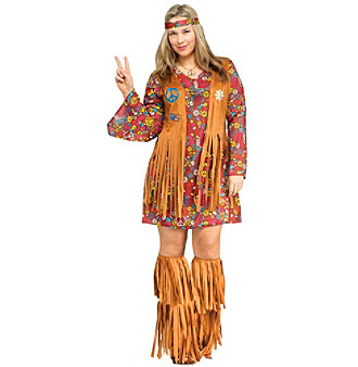 Peace and Love Hippie Plus Costume plus size,  plus size fashion plus size appare