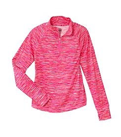 Mambo® Girls' 7-16 Half-Zip Space Dye Pullover
