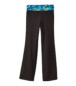 Mambo® Girls' 7-16 Foldover Yoga Pants