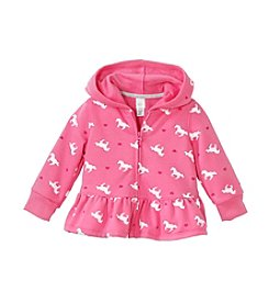 Cuddle Bear® Mix & Match Baby Girls' 3-24M Fleece Peplum Zip Hoodie