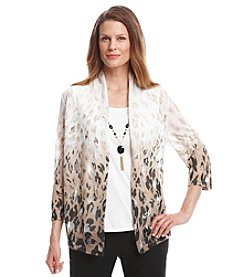 Alfred Dunner® Animal Magnetism Animal Print Ombre Layered Look Top