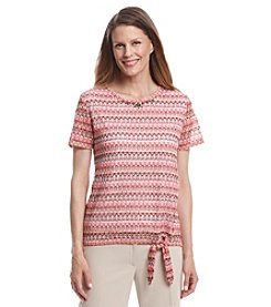 Alfred Dunner® Indian Summer Textured Layered Look Top