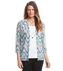 Alfred Dunner® Lake Meade Biadere Print Layered Look Top