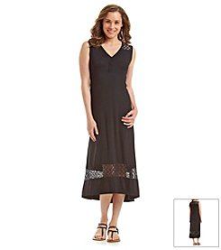 Jones New York Sport® Petites' Lace Trim Maxi Dress