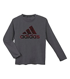 adidas® Boys' 8-20 Long Sleeve Logo Tee