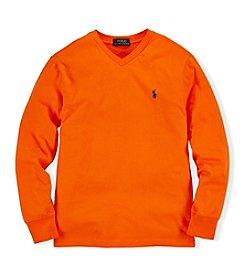 Ralph Lauren Childrenswear Boys' 8-20 Classic V-Neck Tee