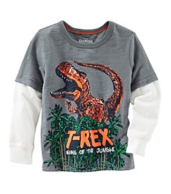 OshKosh B'Gosh® Boys' 2T-4T Long Sleeve T-Rex Layered Tee