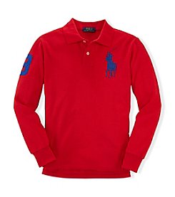 Ralph Lauren Childrenswear Boys' 2T-4T Long Sleeve Polo Top