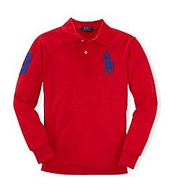 Ralph Lauren Childrenswear Boys' 2T-4T Long Sleeve Polo Top