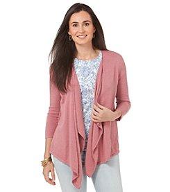 Chaps® 3/4 Sleeve Sweater Cardigan